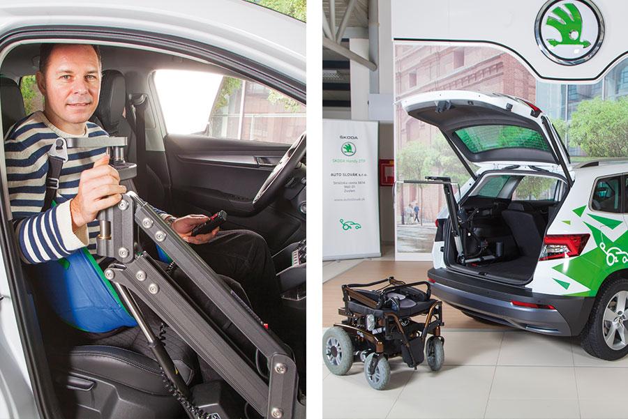 Osobný zdvihák a žeriav do auta pre imobilných