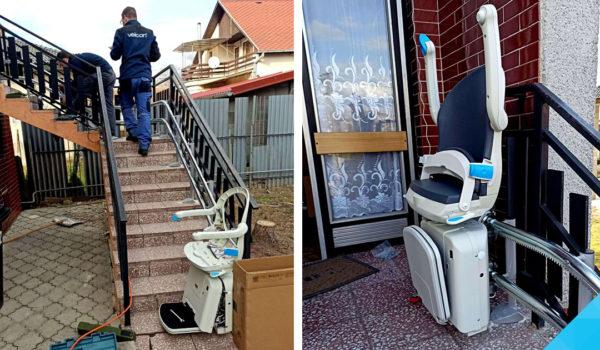 Šikmá schodisková sedačka (výťah) pre imobilných