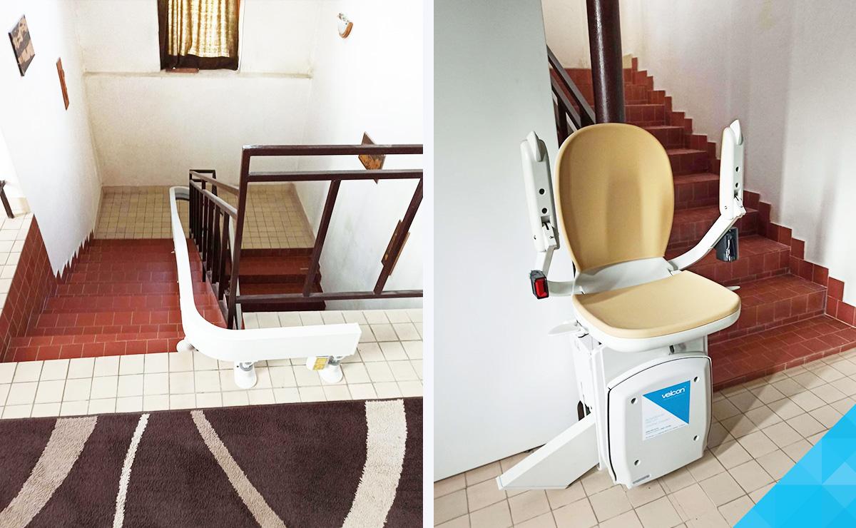 Domáci stoličkový výťah