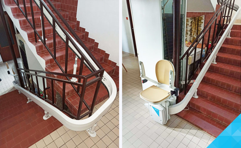 Stoličkový výťah na schody pre imobilných
