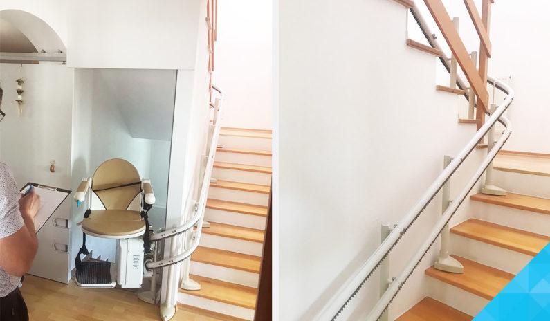 Výťah na schody pre imobilných a seniorov
